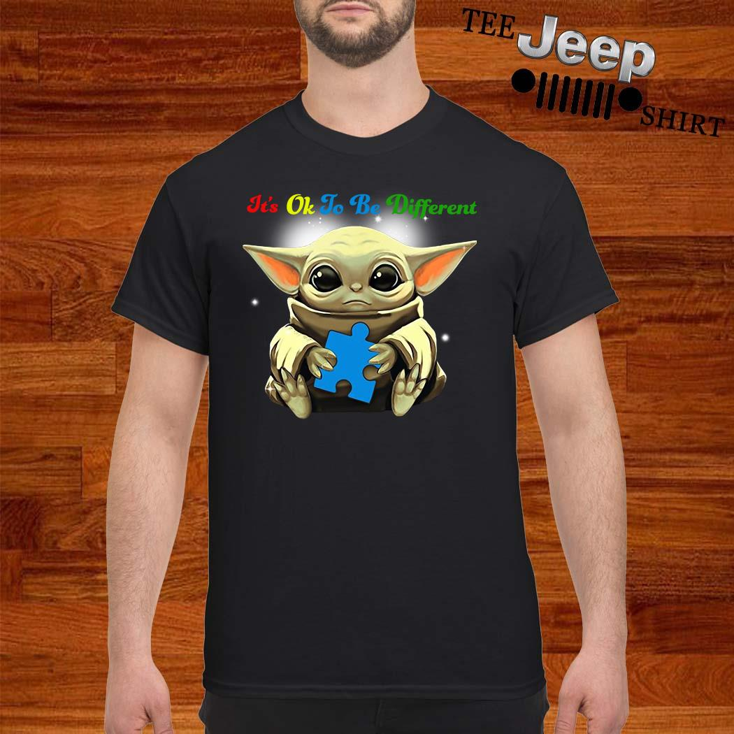 Baby Yoda Hug Autism It's Oh To Be Different Shirt