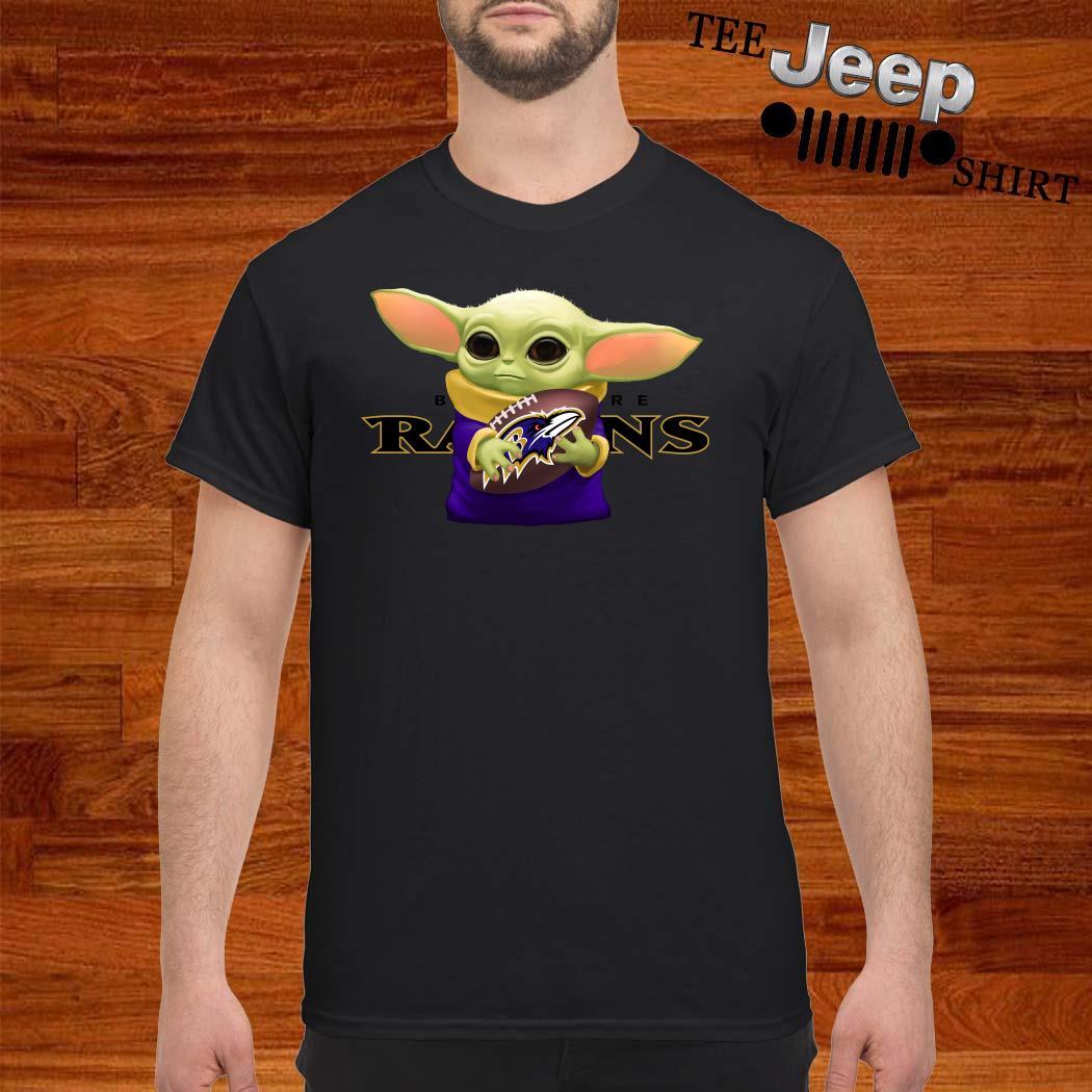 Baby Yoda Hug Baltimore Ravens Shirt