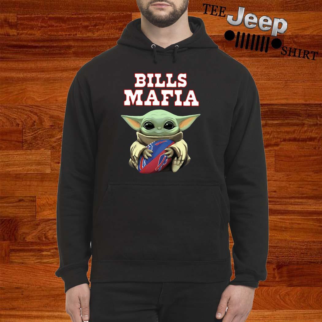 Baby Yoda Hug Bills Mafia Hoodie