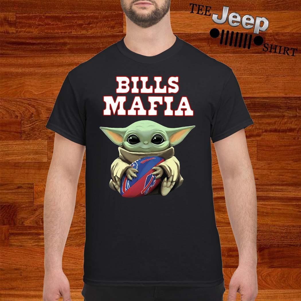 Baby Yoda Hug Bills Mafia Shirt