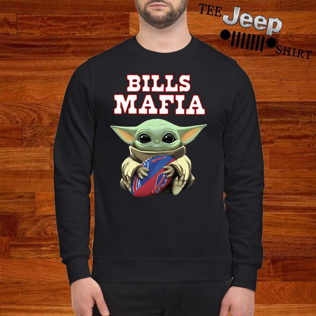 Baby Yoda Hug Bills Mafia Sweatshirt