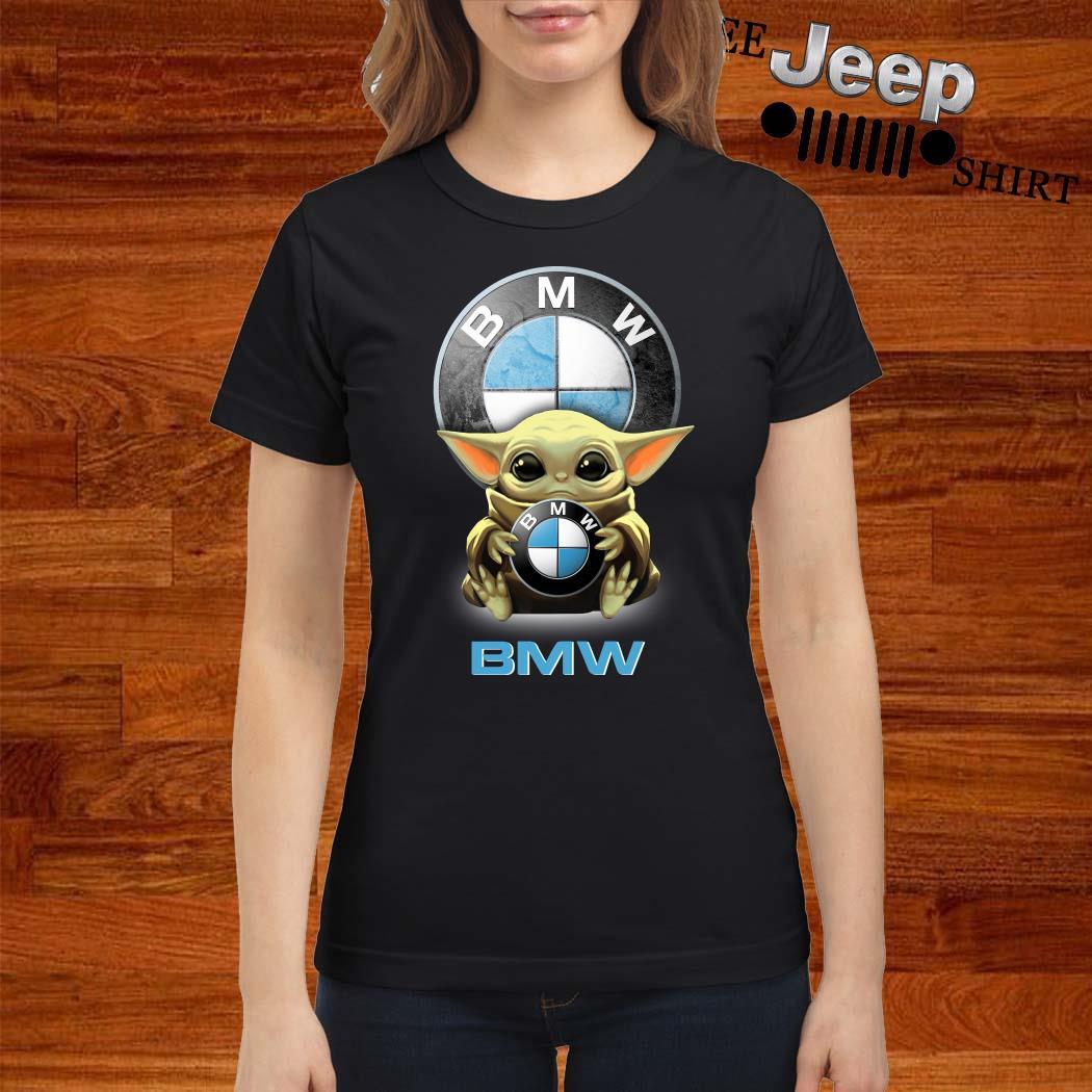 Baby Yoda Hug BMW Ladies Shirt