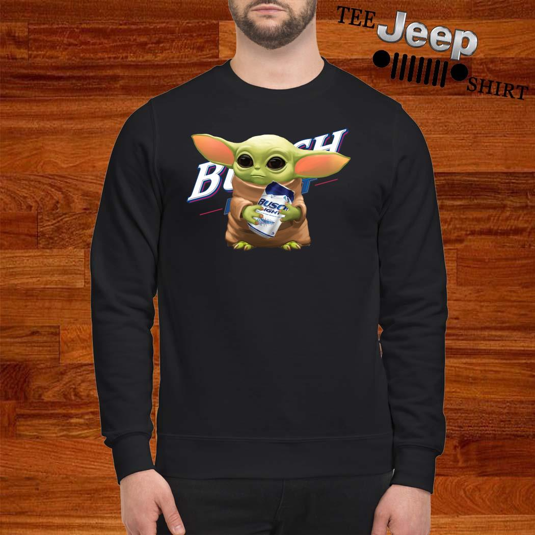 Baby Yoda Hug Busch Light Sweatshirt