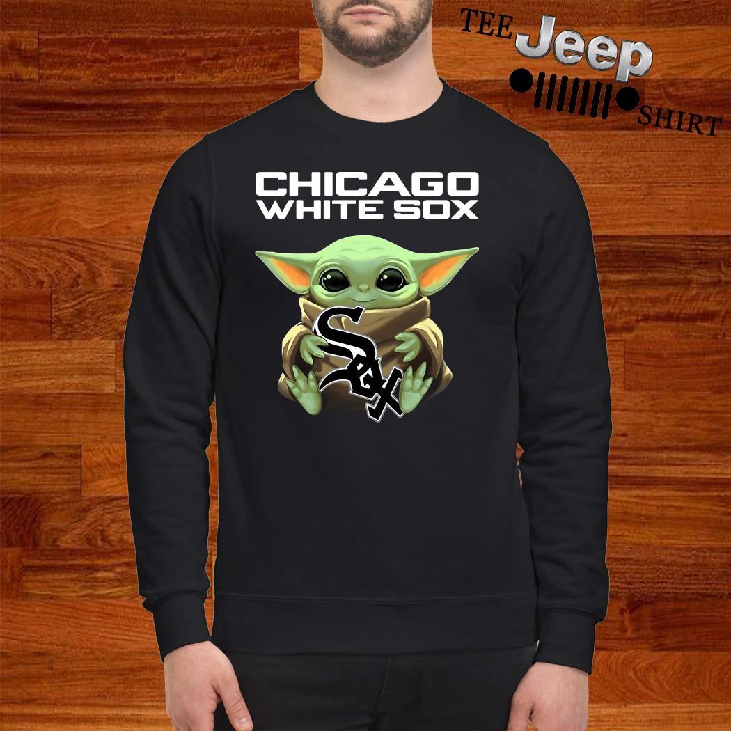 Baby Yoda Hug Chicago White Sox Sweatshirt
