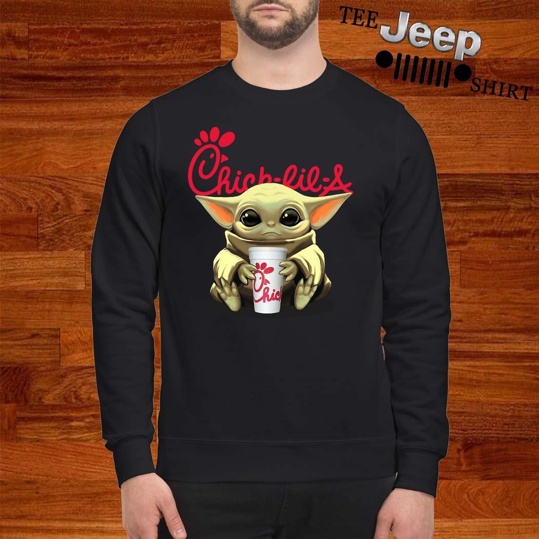 Baby Yoda Hug Chick Fil A Sweatshirt