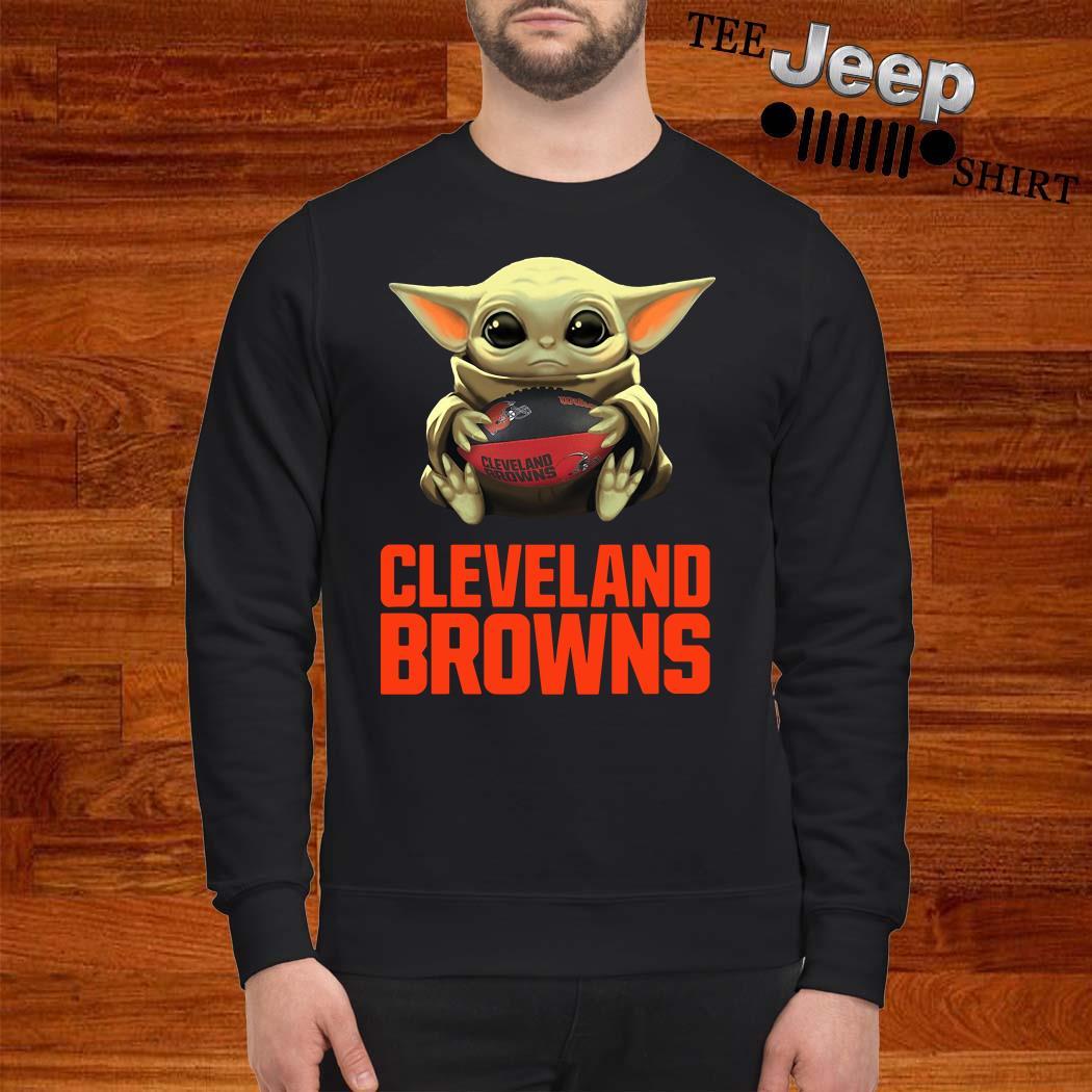 Baby Yoda Hug Cleveland Browns Sweatshirt
