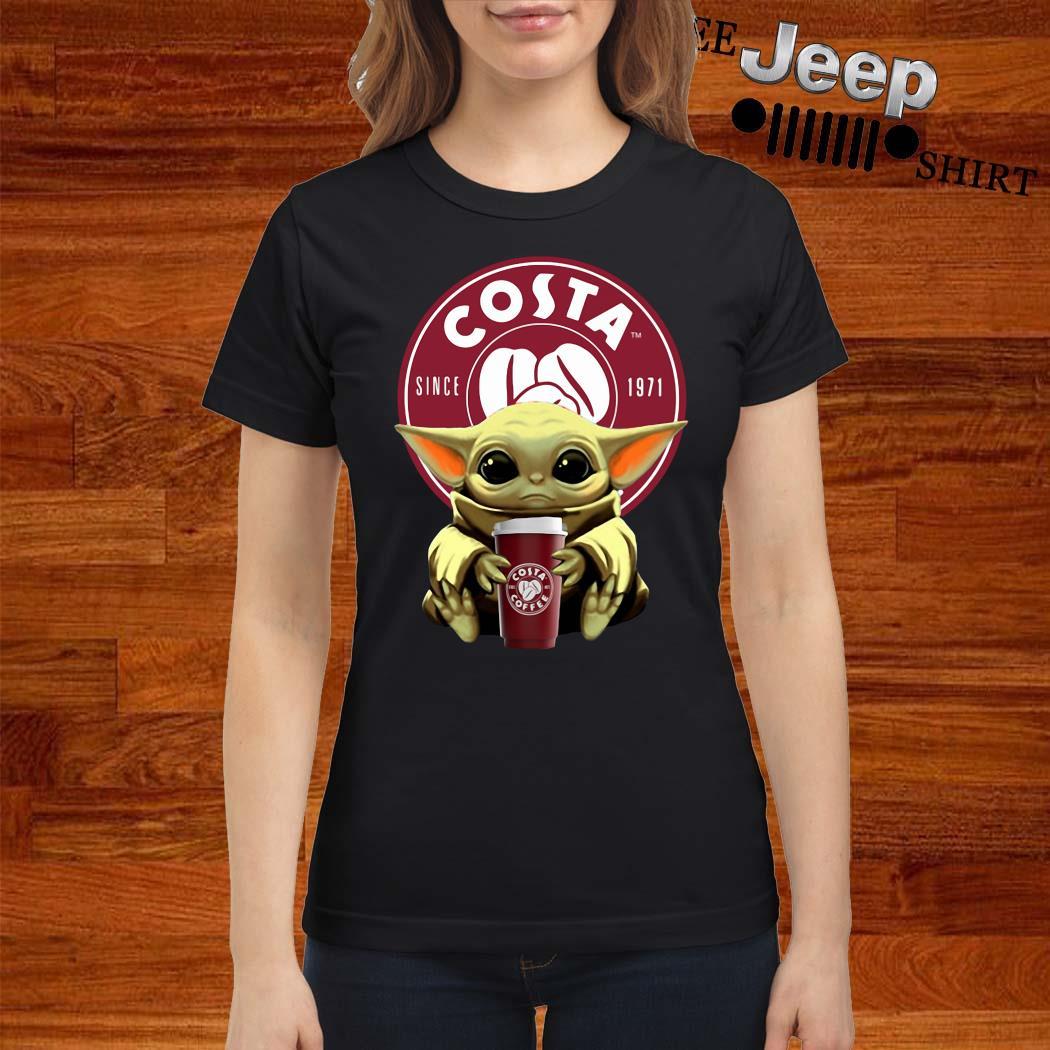 Baby Yoda Hug Costa Ladies Shirt