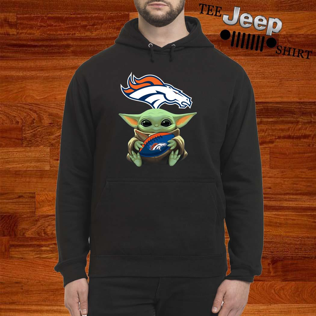 Baby Yoda Hug Denver Broncos Hoodie