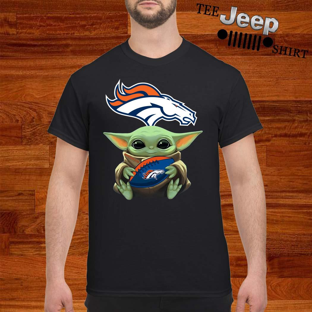 Baby Yoda Hug Denver Broncos Shirt