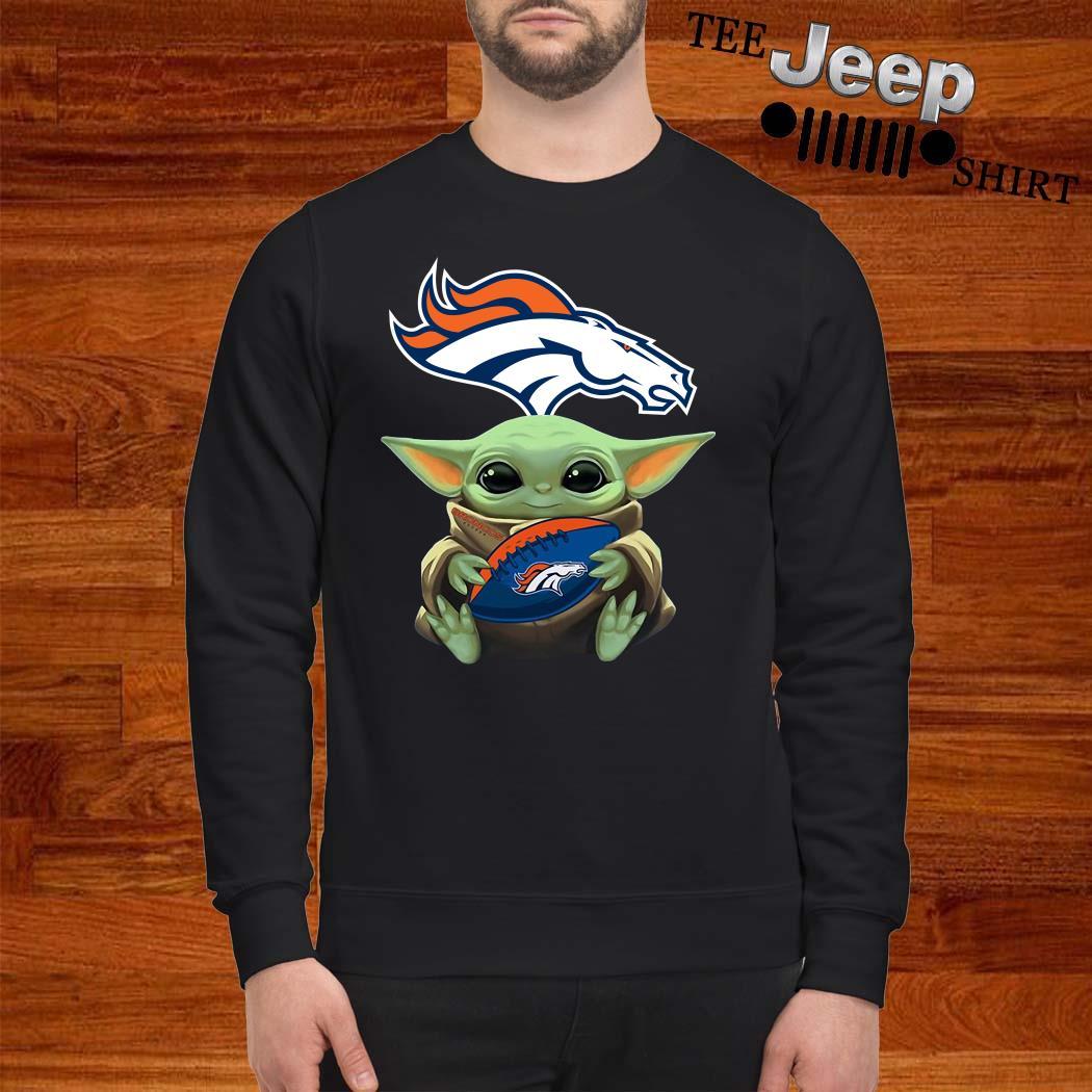 Baby Yoda Hug Denver Broncos Sweatshirt