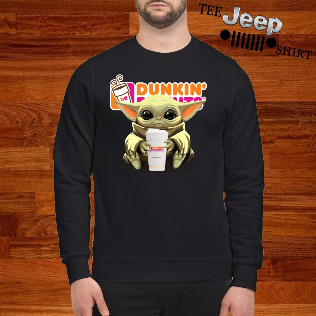 Baby Yoda Hug Dunkin' Donuts Sweatshirt