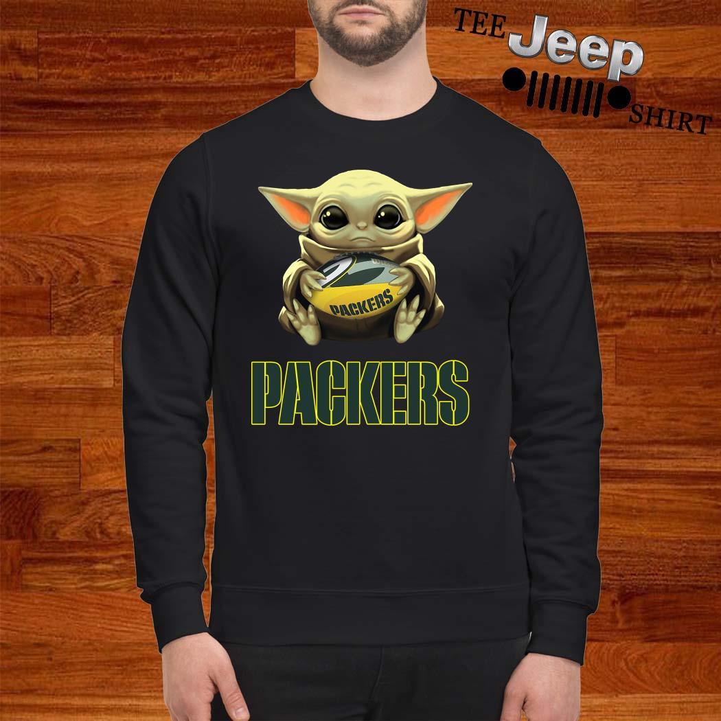 Baby Yoda Hug Green Bay Packers Sweatshirt