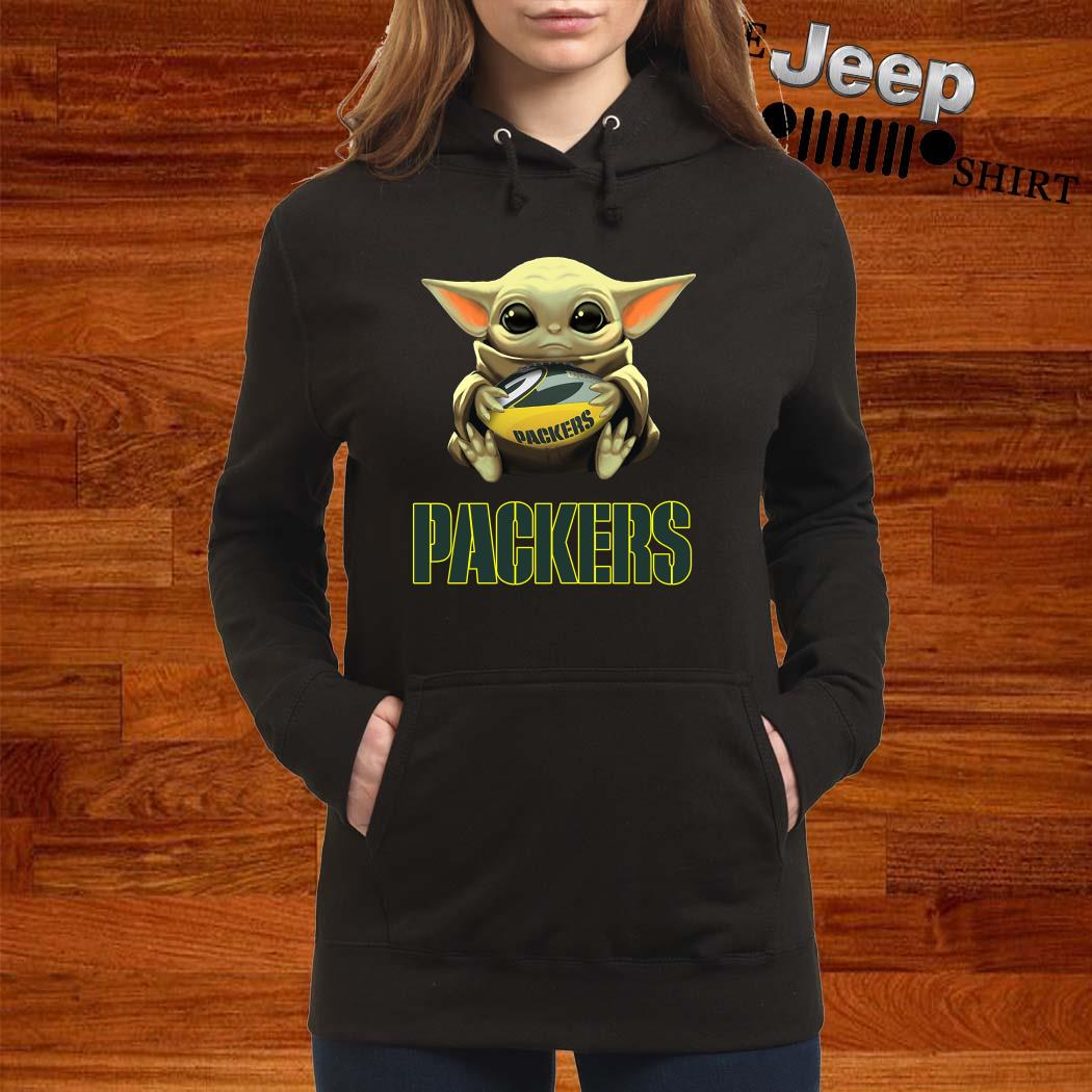 Baby Yoda Hug Green Bay Packers Hoodie