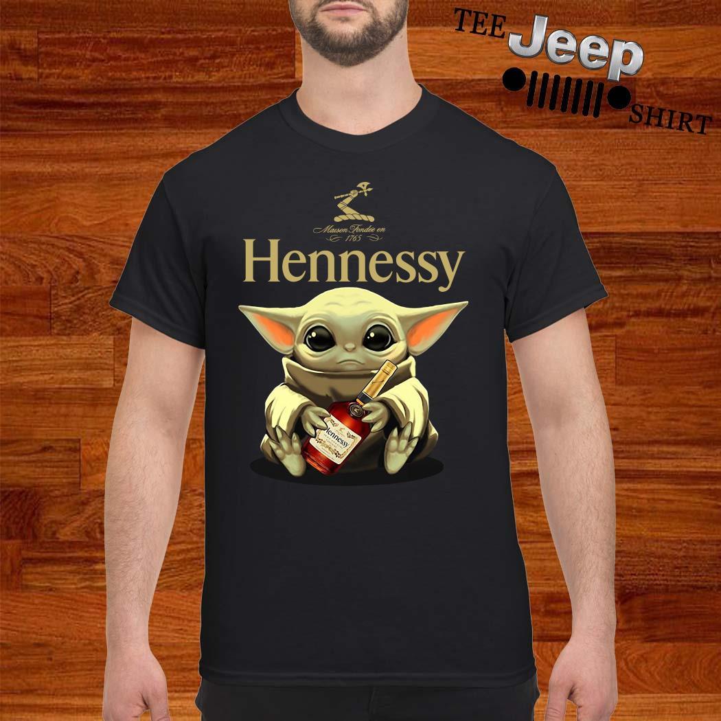 Baby Yoda Hug Hennessy Shirt