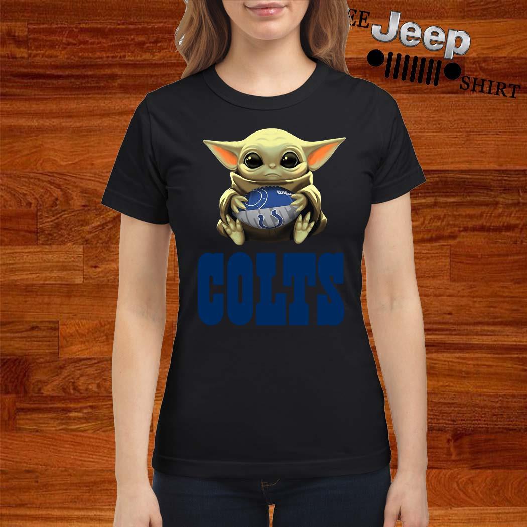 Baby Yoda Hug Indianapolis Colts Ladies Shirt