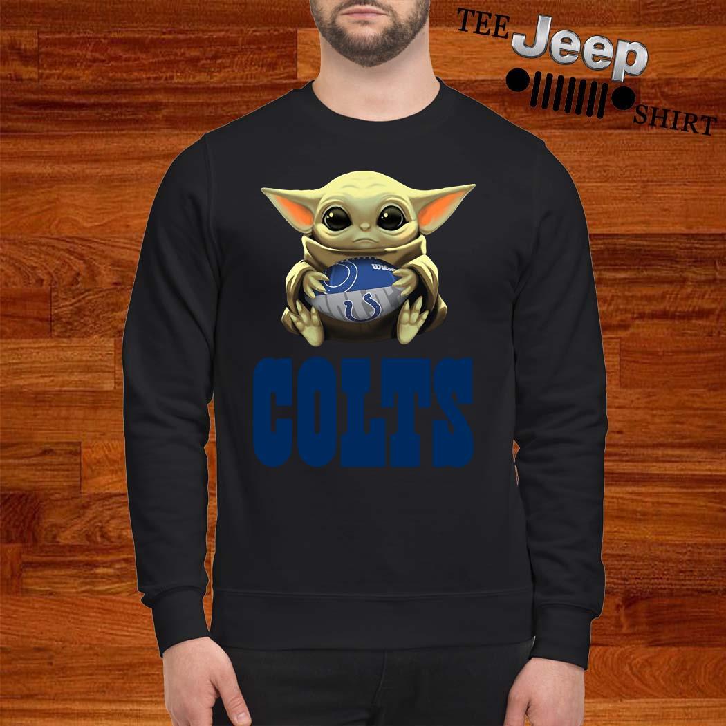 Baby Yoda Hug Indianapolis Colts Sweatshirt