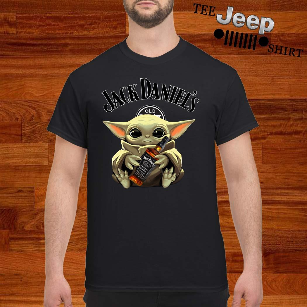 Baby Yoda Hug Jack Daniel's Whiskey Shirt
