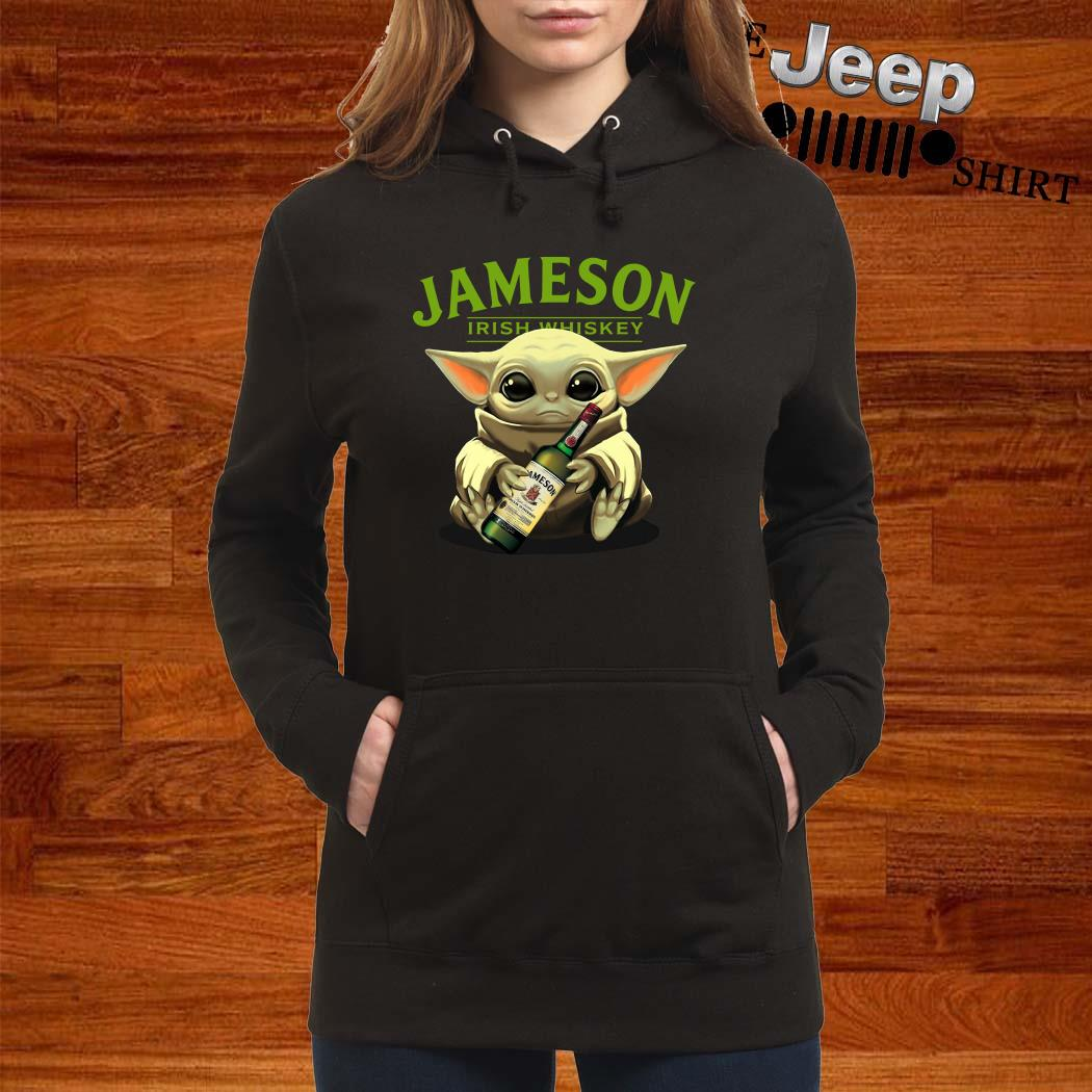 Baby Yoda Hug Jameson Irish Whiskey Hoodie