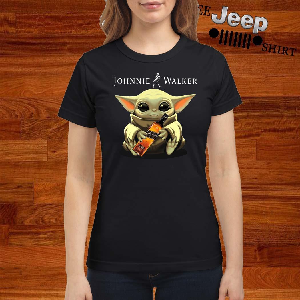 Baby Yoda Hug Johnnie Walker Ladies Shirt