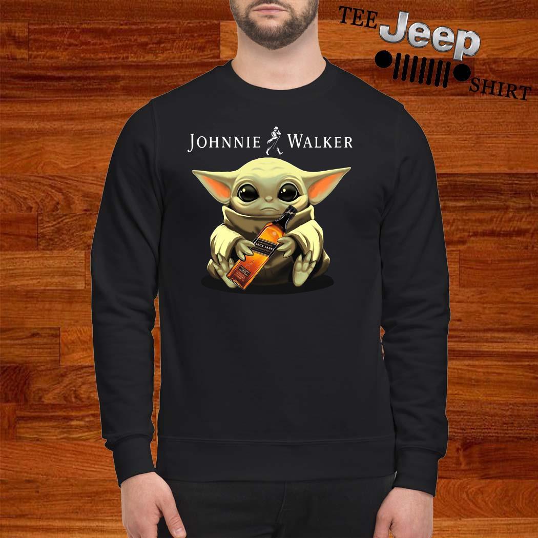 Baby Yoda Hug Johnnie Walker Sweatshirt
