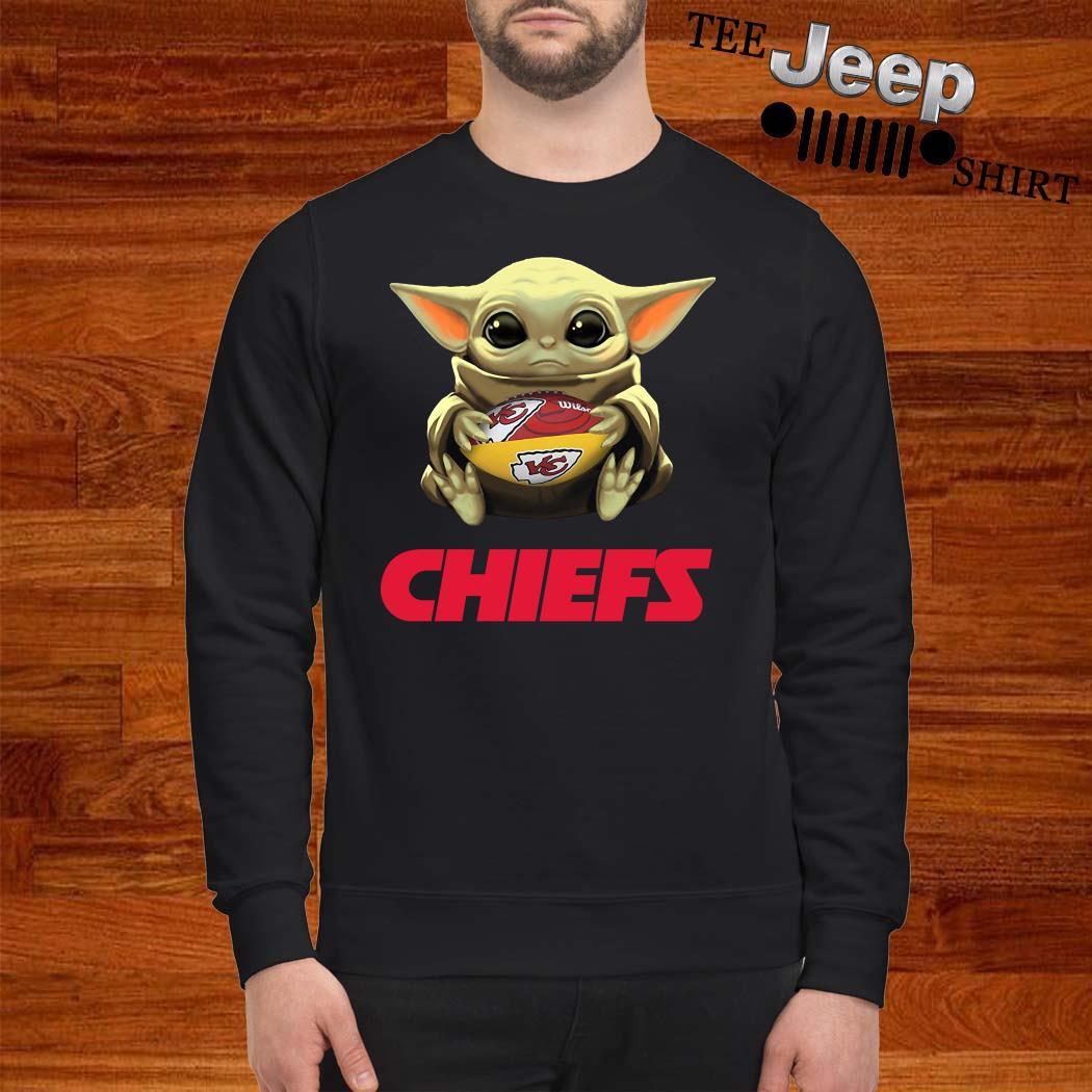 Baby Yoda Hug Kansas City Chiefs Sweatshirt