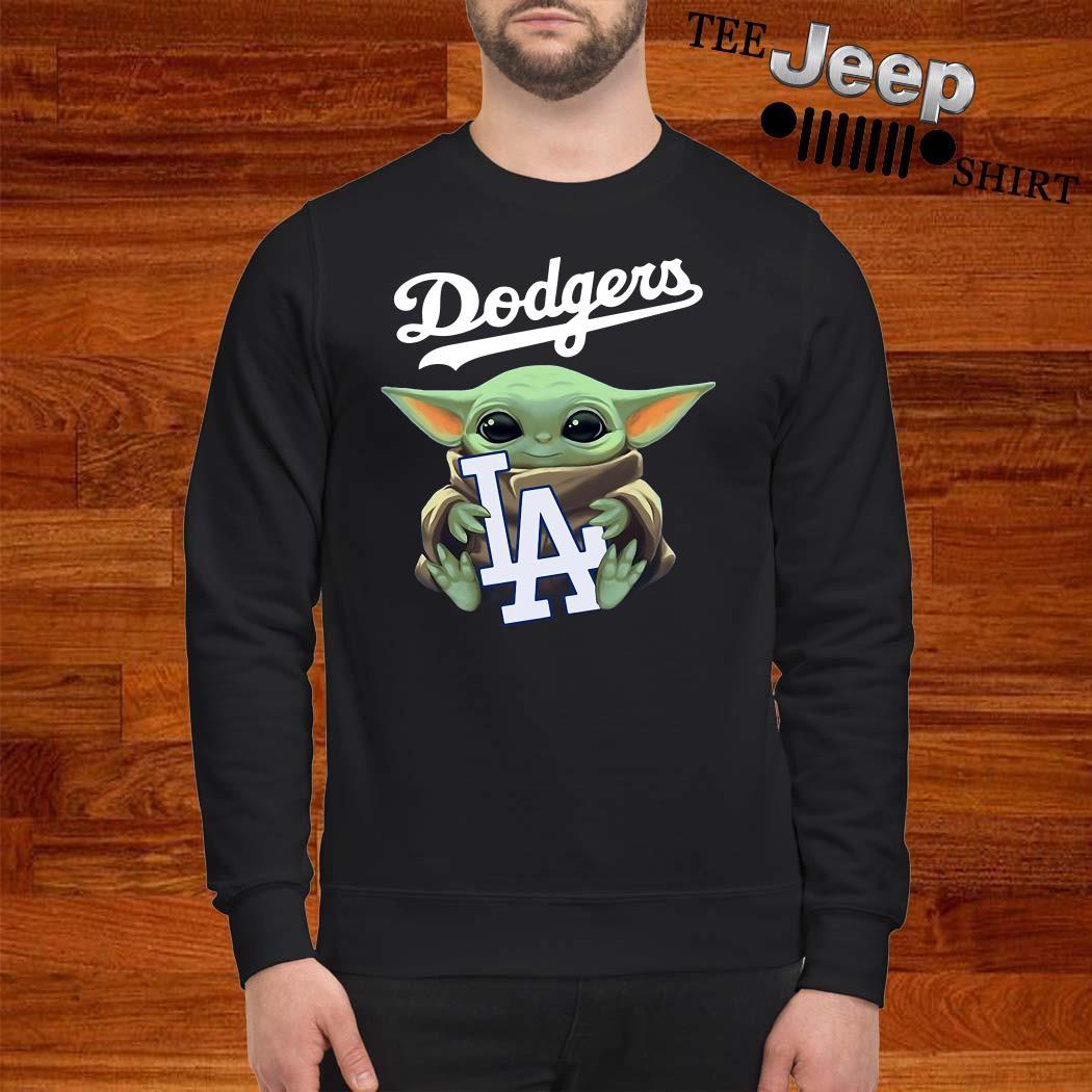 Baby Yoda Hug Los Angeles Dodgers Sweatshirt