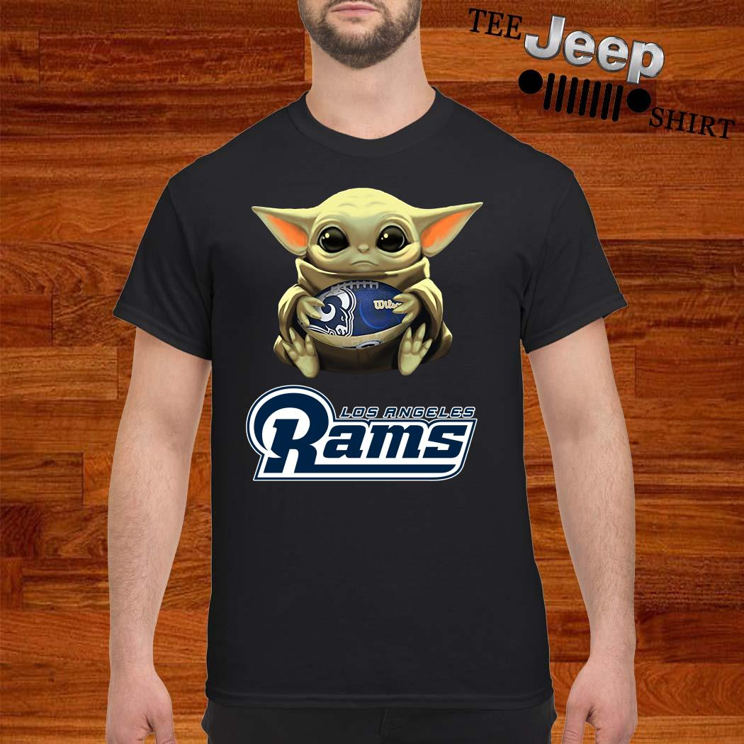 Baby Yoda Hug Los Angeles Rams Shirt