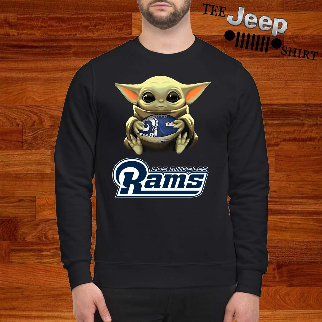 Baby Yoda Hug Los Angeles Rams Sweatshirt