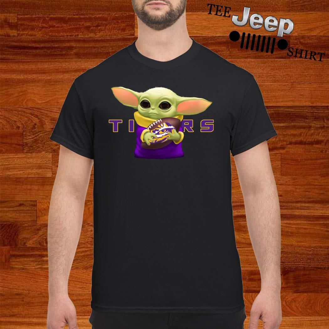 Baby Yoda Hug LSU Tiger Shirt