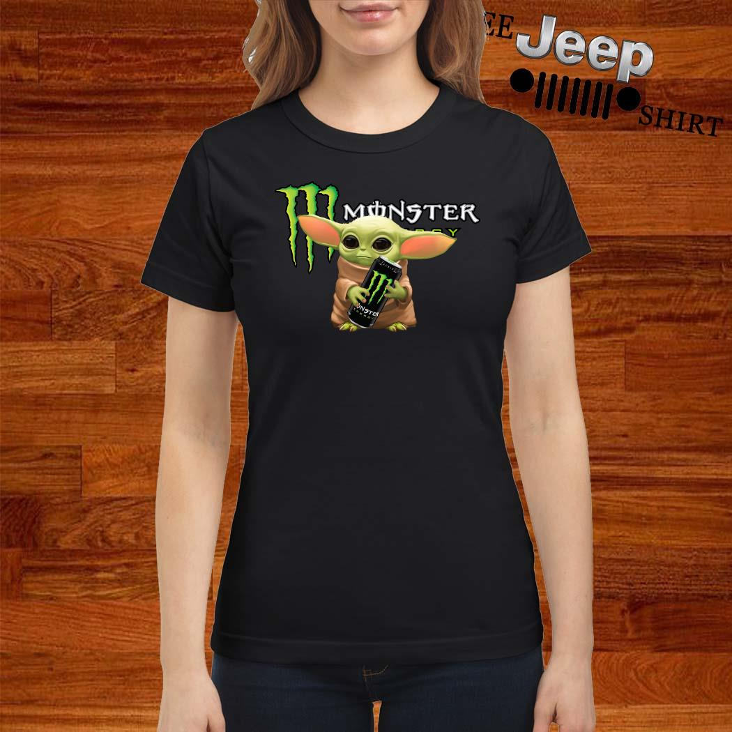 Baby Yoda Hug Monster Energy Ladies Shirt