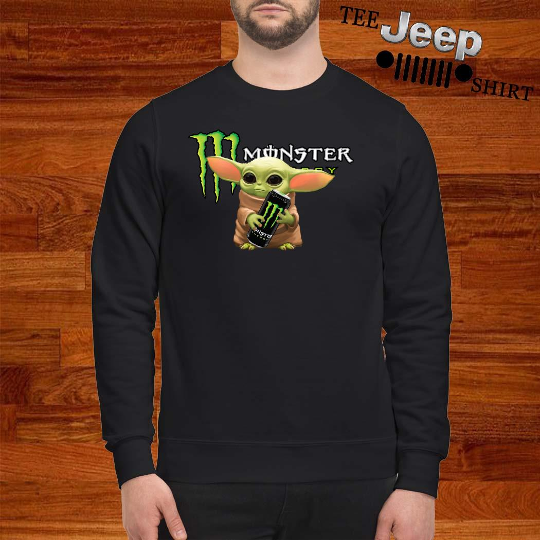 Baby Yoda Hug Monster Energy Sweatshirt