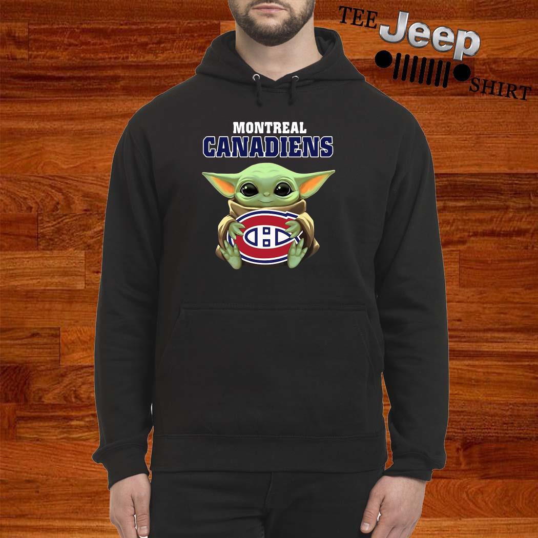 Baby Yoda Hug Montreal Canadiens Hoodie