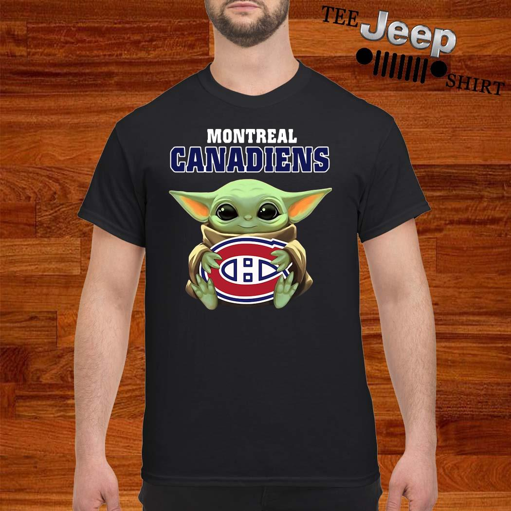 Baby Yoda Hug Montreal Canadiens Shirt