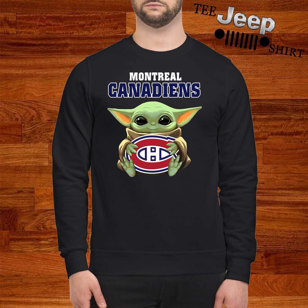 Baby Yoda Hug Montreal Canadiens Sweatshirt
