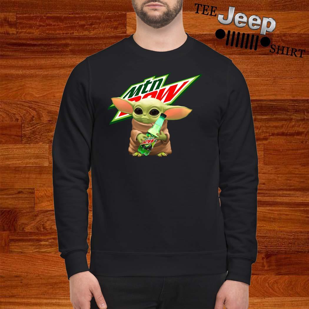 Baby Yoda Hug Mountain Dew Sweatshirt