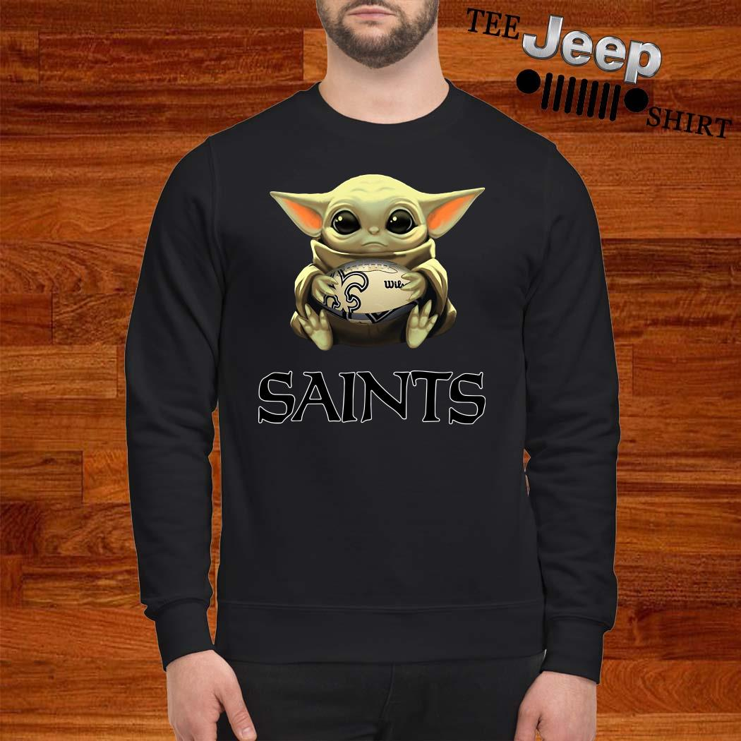 Baby Yoda Hug New Orleans Saints Sweatshirt