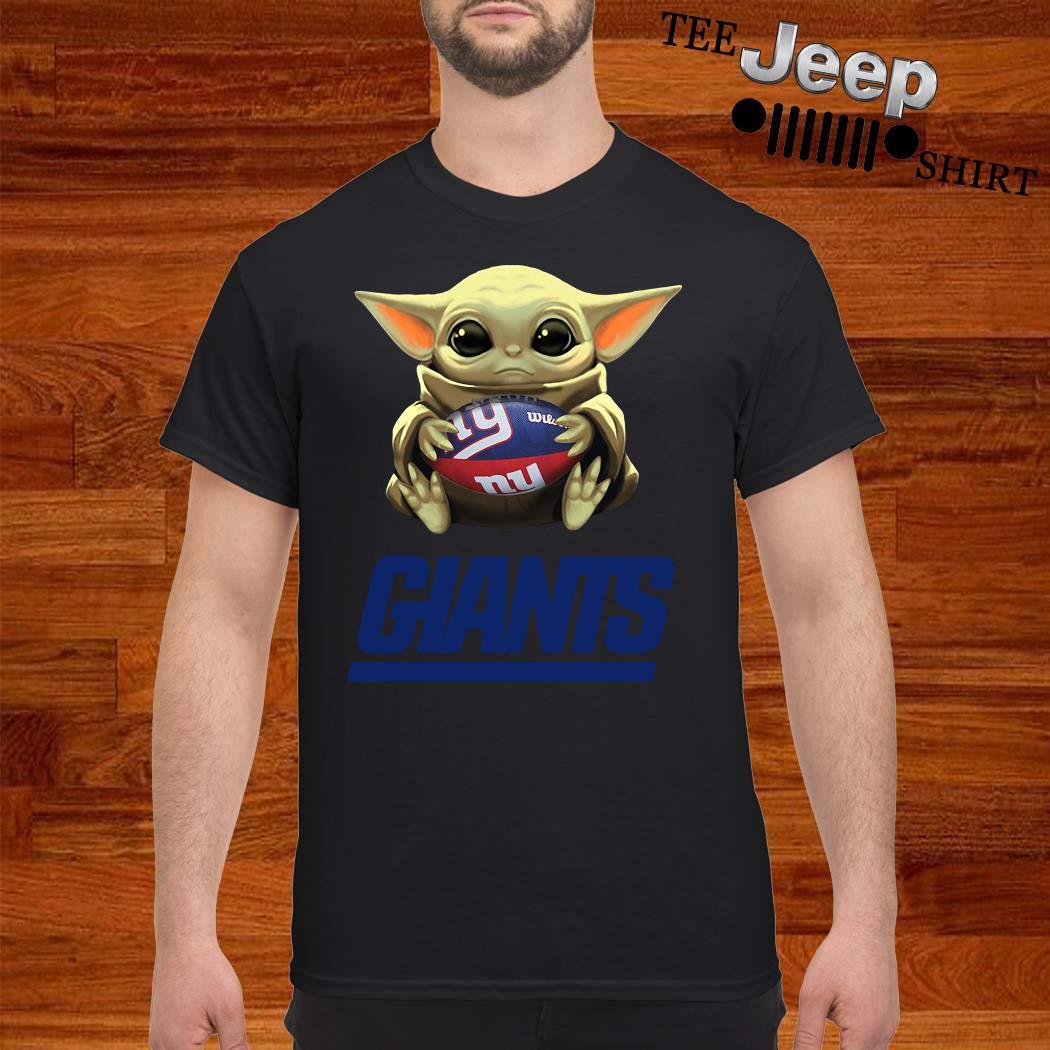 Baby Yoda Hug New York Giants Shirt