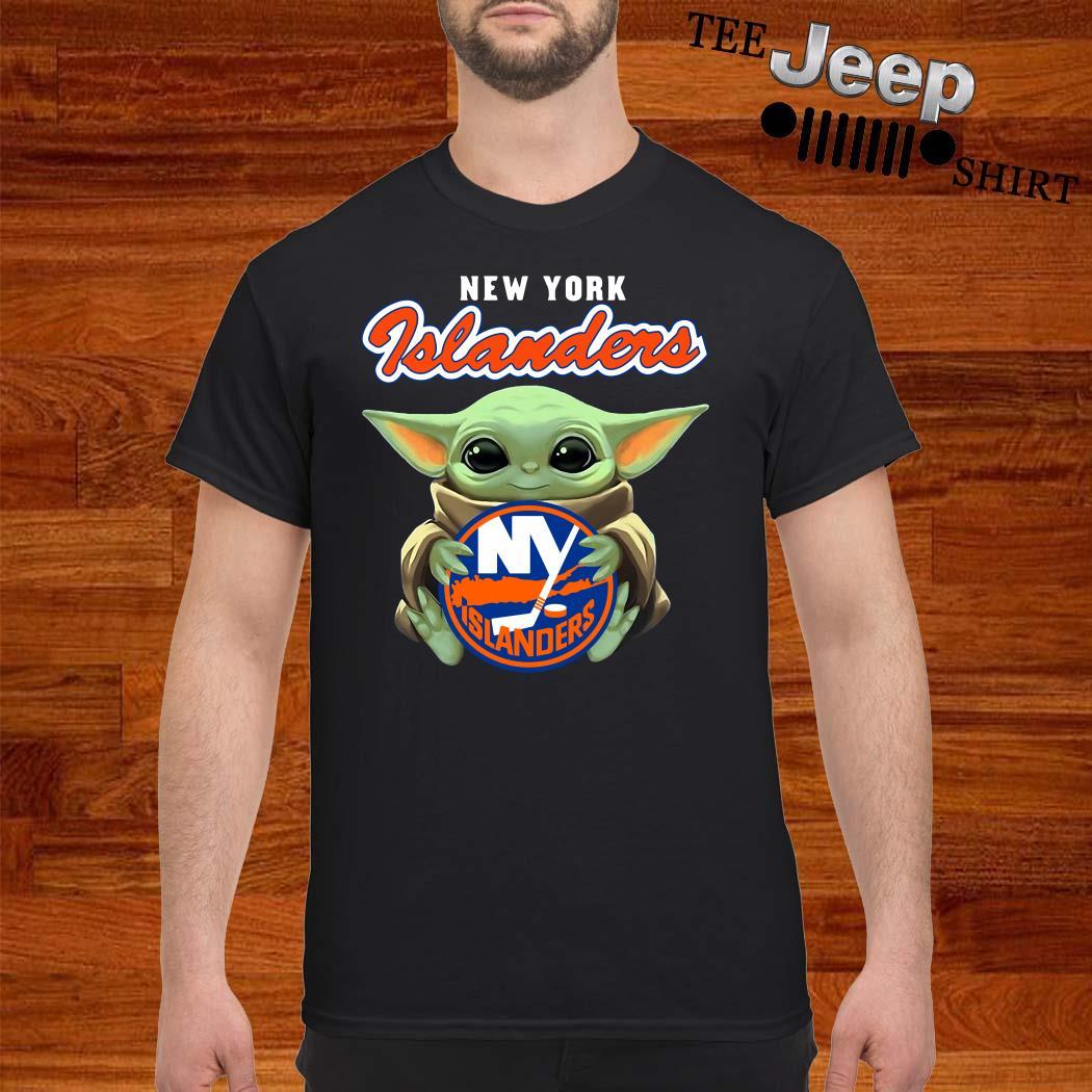 Baby Yoda Hug New York Islanders Shirt