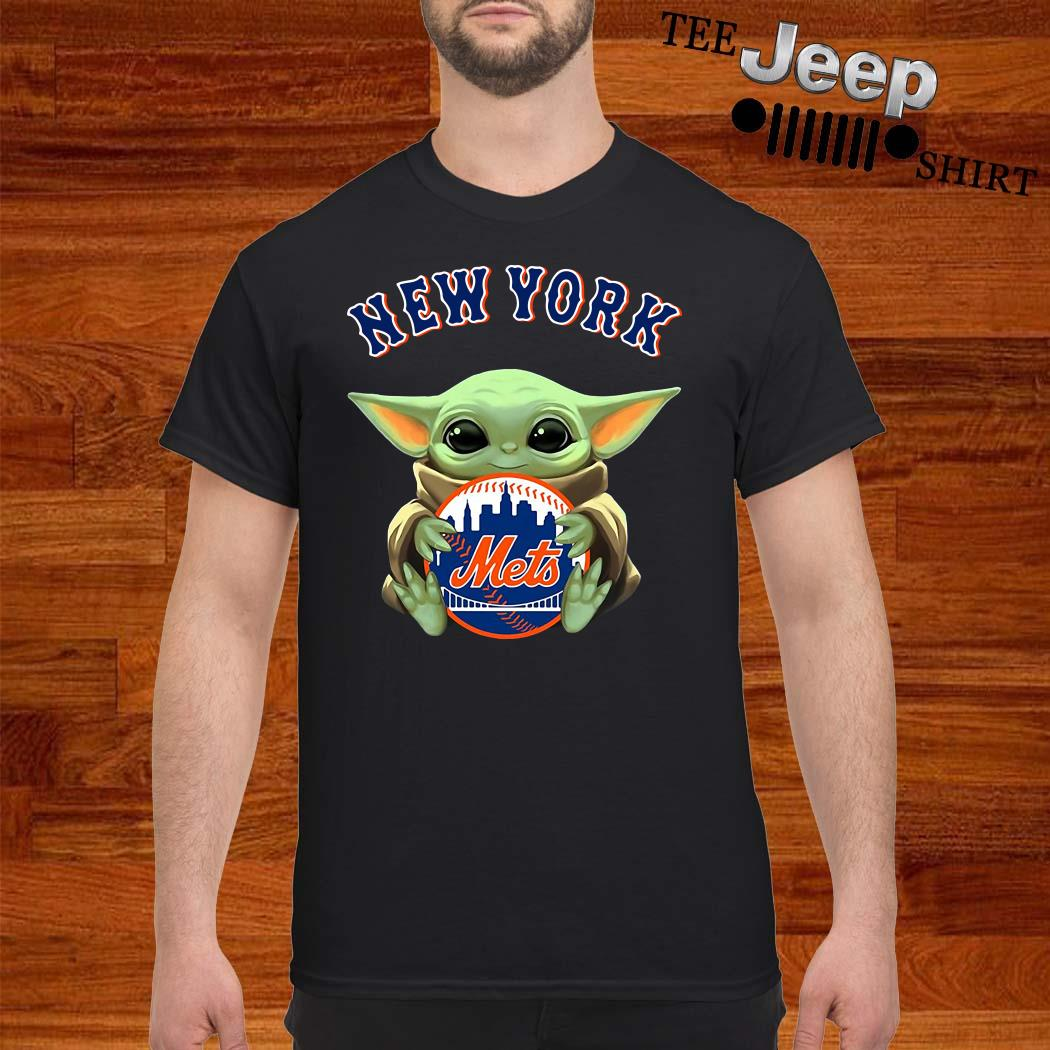 Baby Yoda Hug New York Mets Shirt