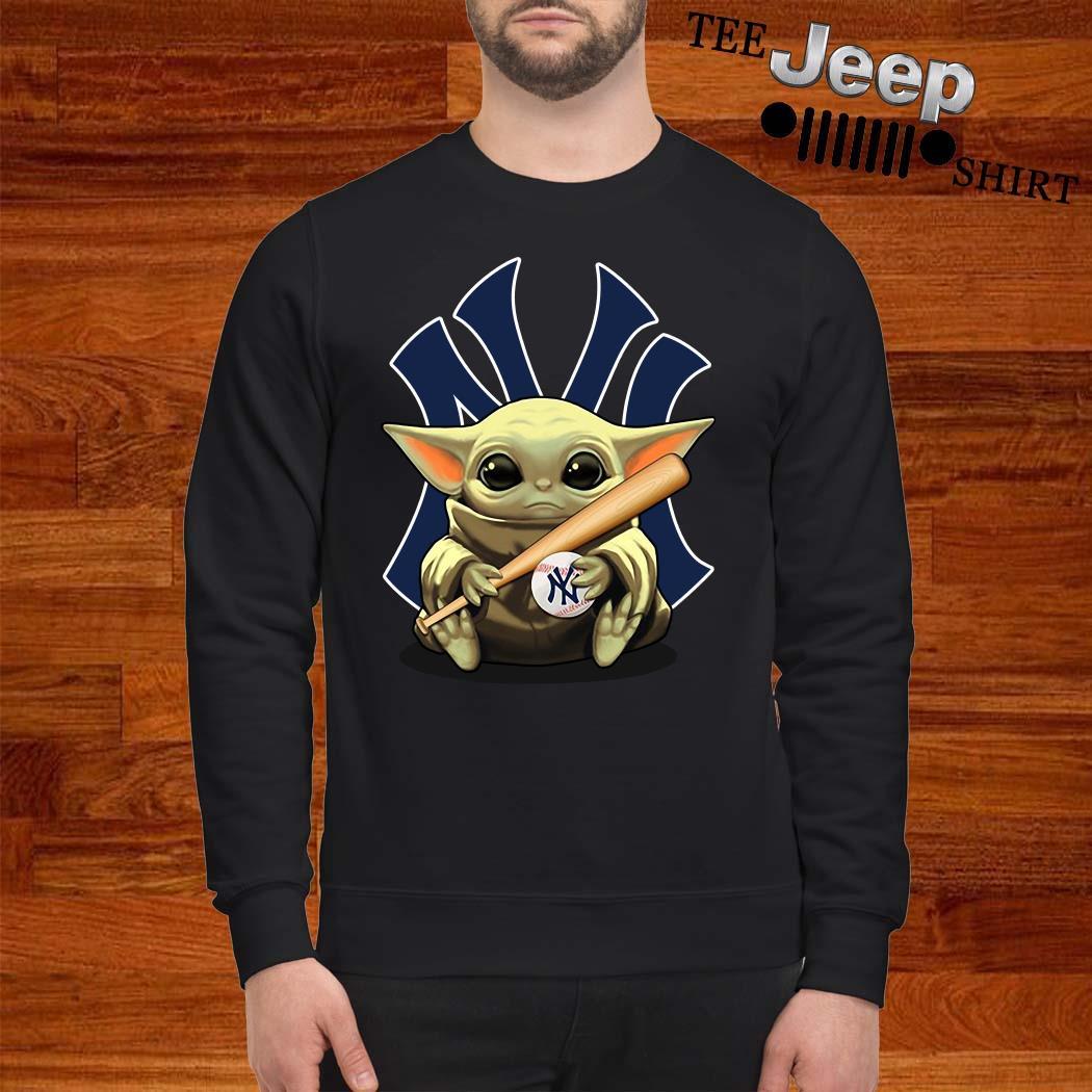 Baby Yoda Hug New York Yankees Sweatshirt
