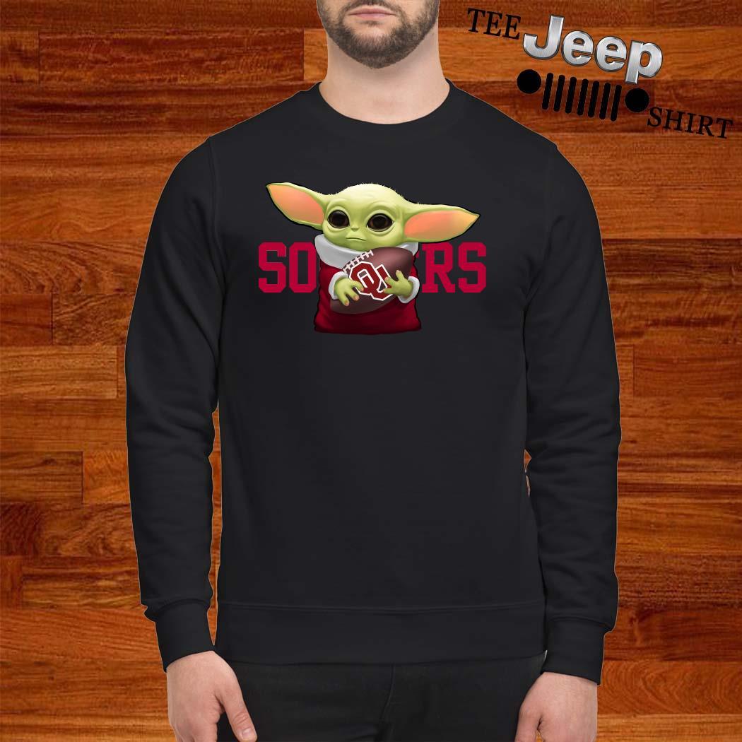 Baby Yoda Hug Oklahoma Sooners Sweater