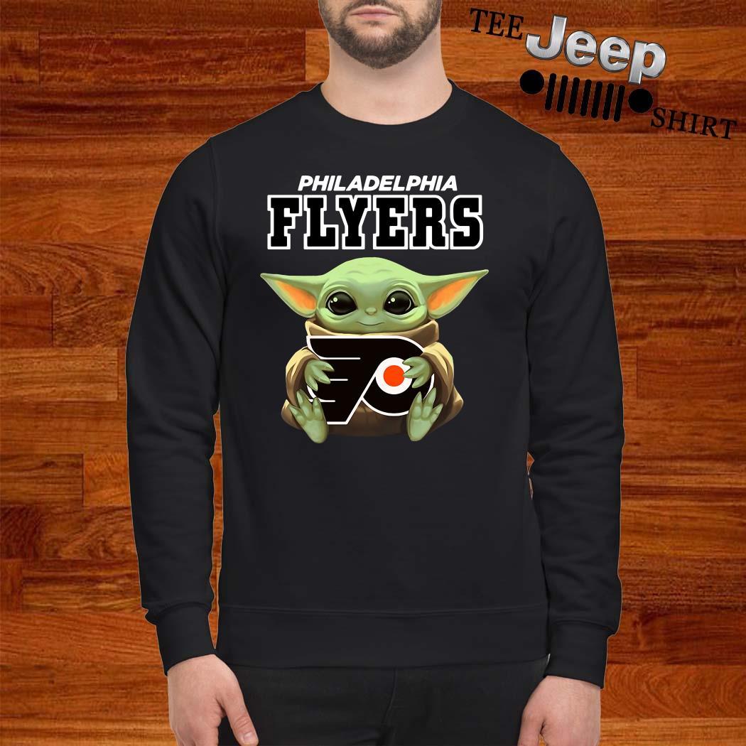 Baby Yoda Hug Philadelphia Flyers Sweatshirt
