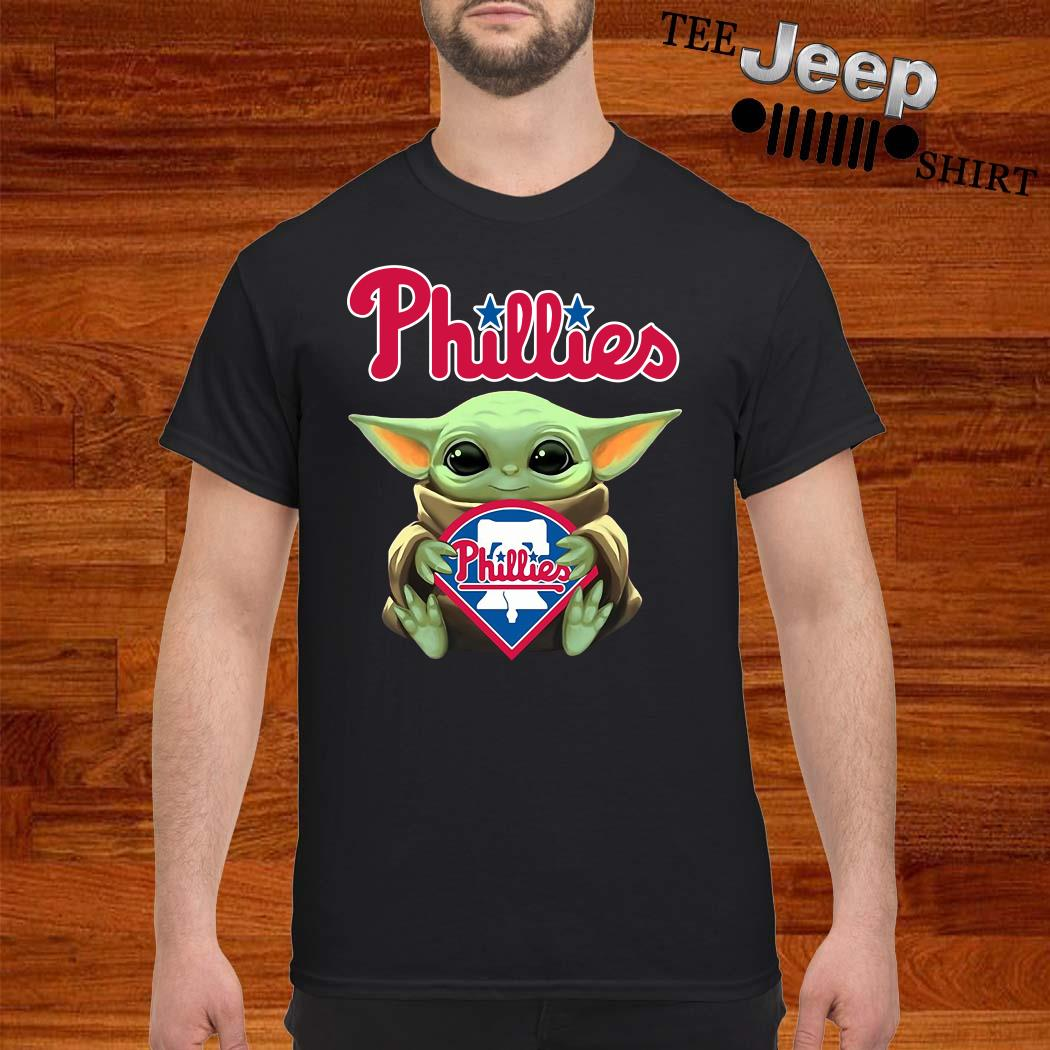 Baby Yoda Hug Philadelphia Phillies Shirt
