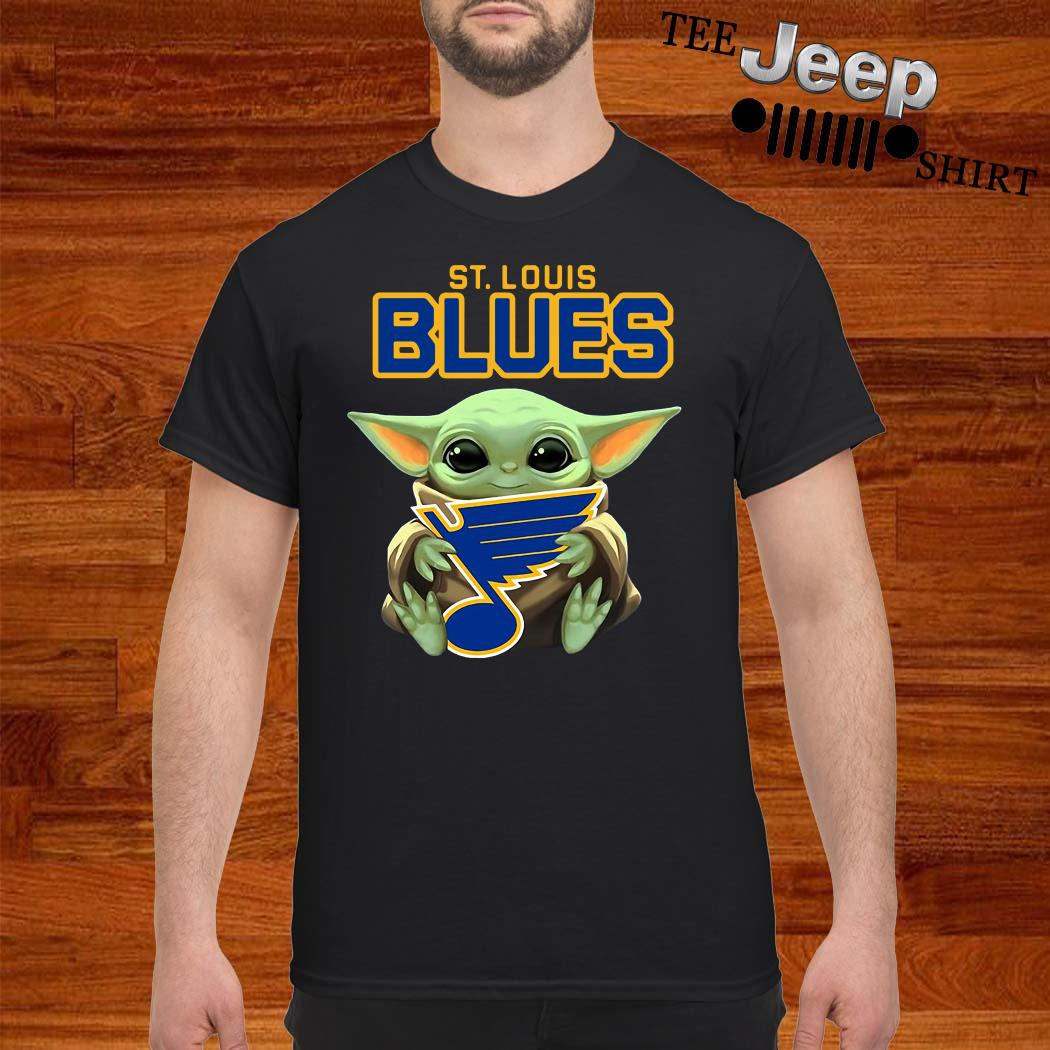 Baby Yoda Hug St Louis Blues Shirt