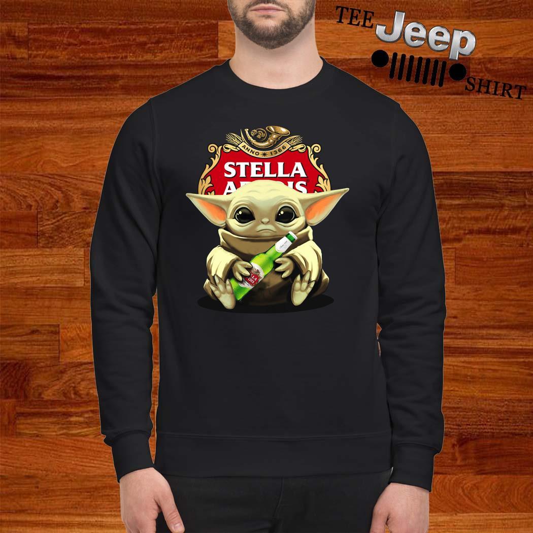 Baby Yoda Hug Stella Artois Sweatshirt
