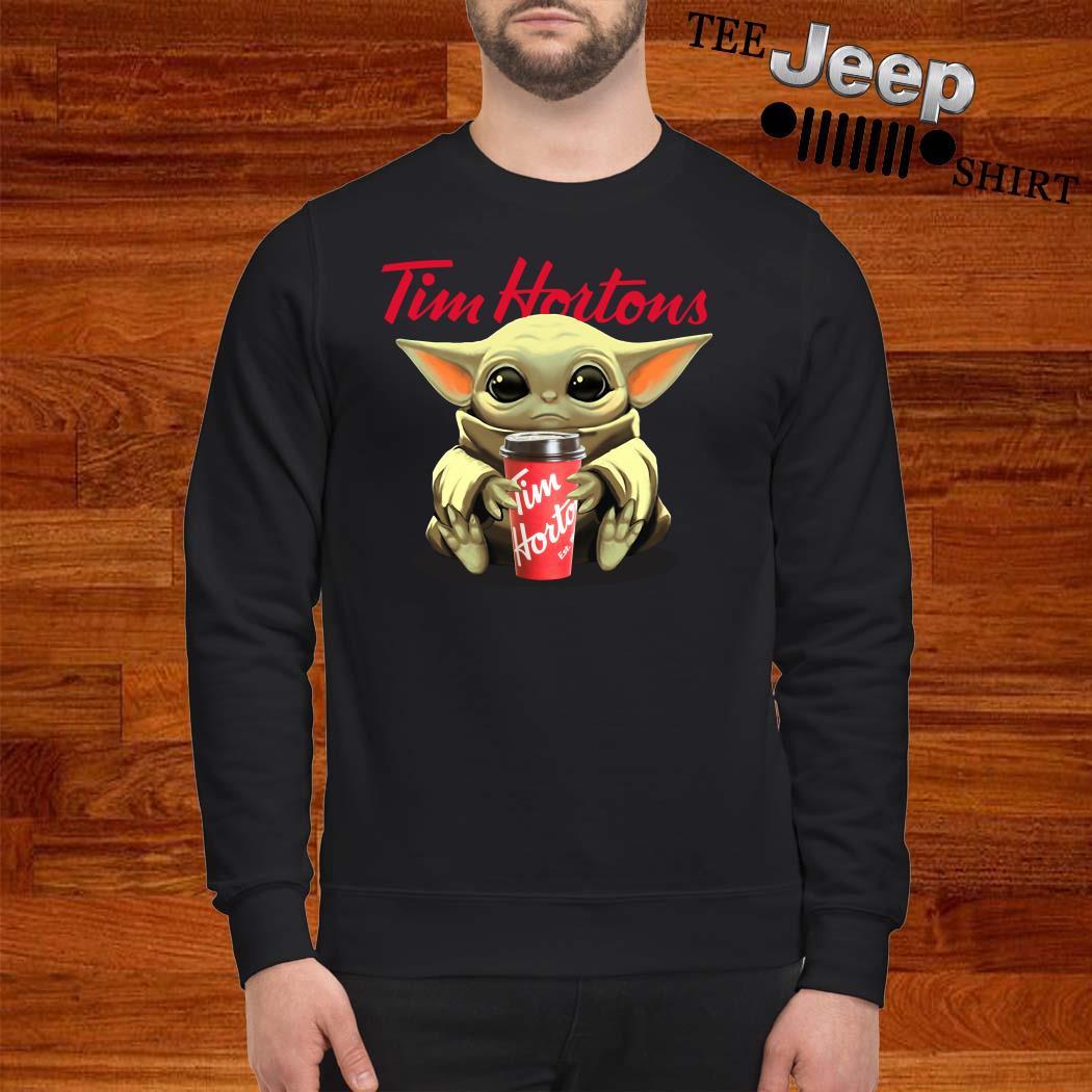 Baby Yoda Hug Tim Hortons Sweatshirt