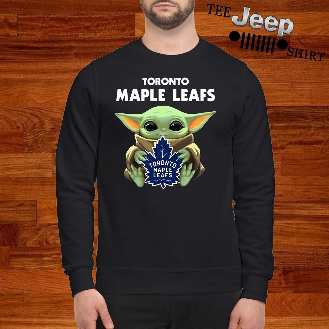 Baby Yoda Hug Toronto Maple Leafs Sweatshirt