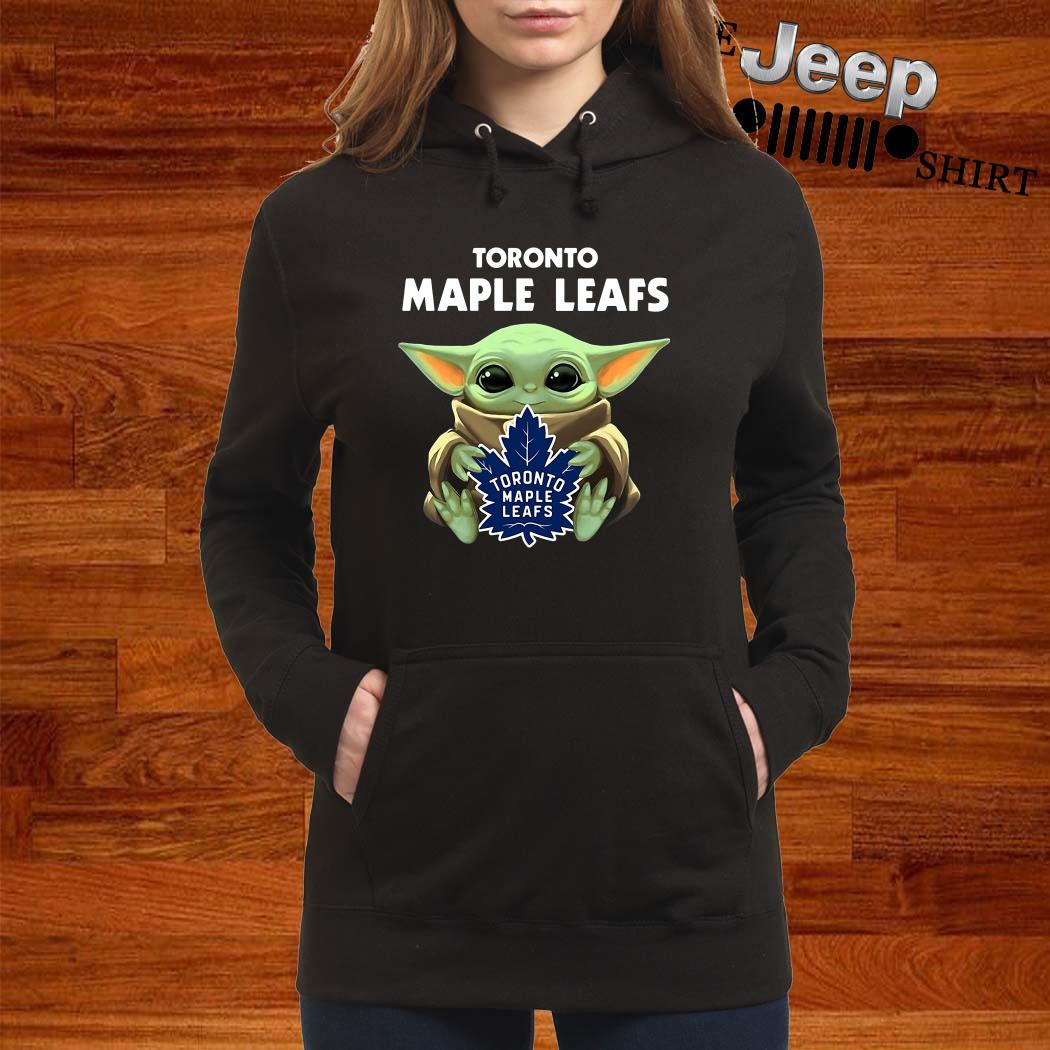 Baby Yoda Hug Toronto Maple Leafs Hoodie