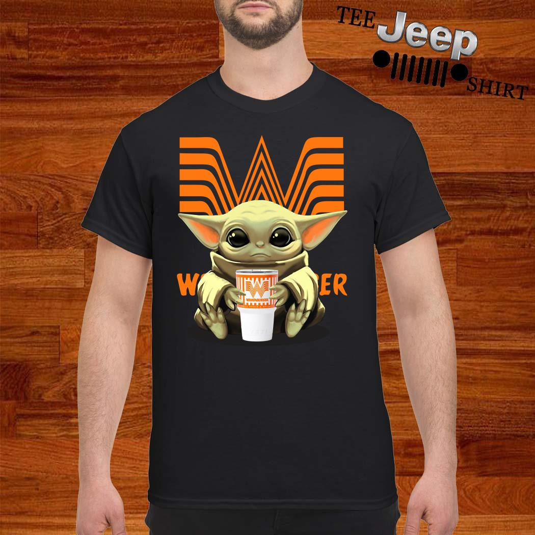 Baby Yoda Hug Whataburger Shirt
