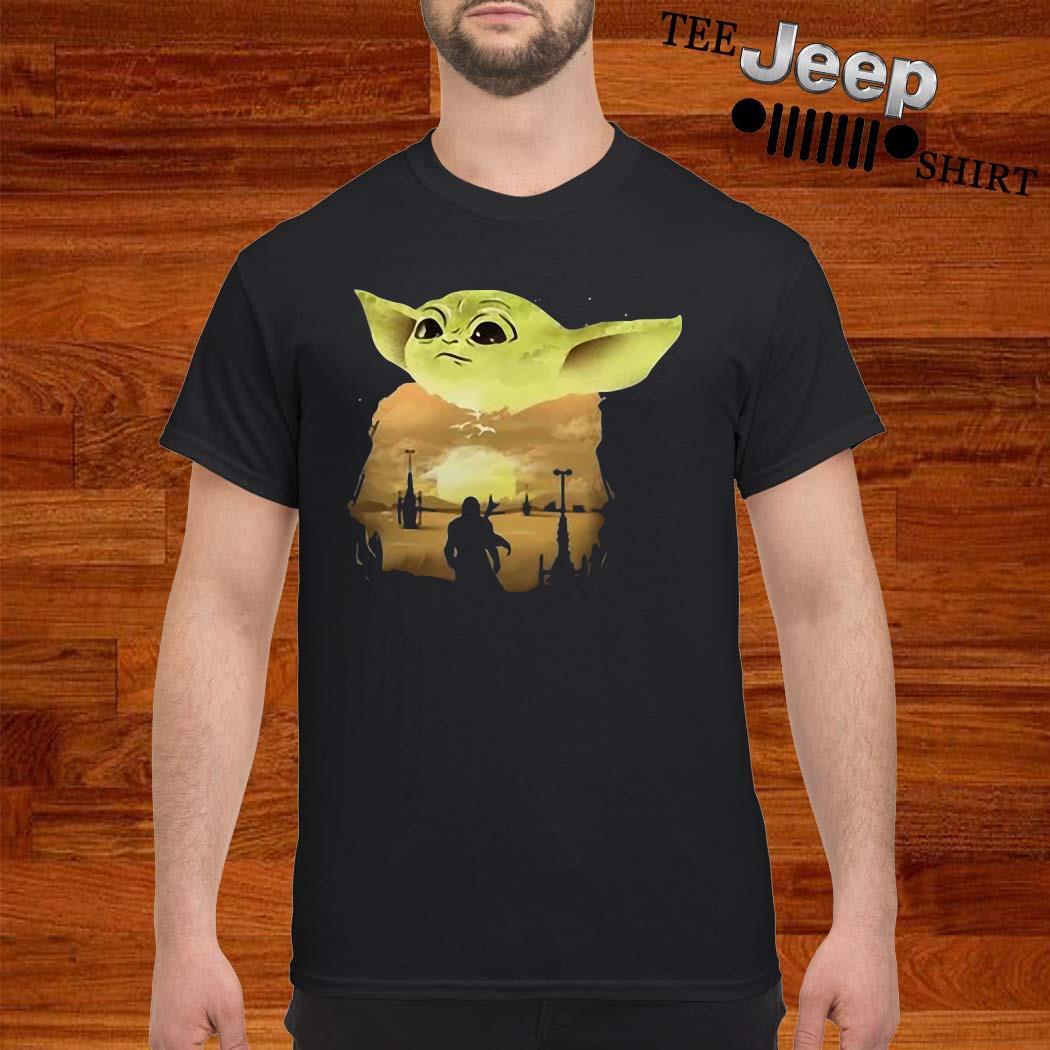 Baby Yoda The Mandalorian Sunset Shirt